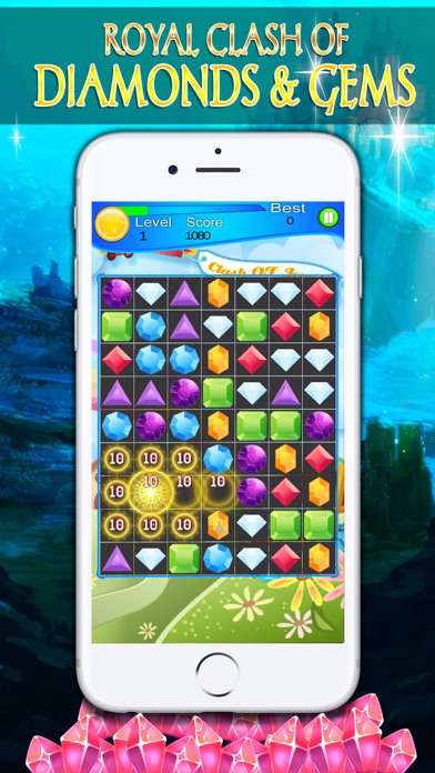 Royal Clash of Diamonds and Gems - Puzzle screenshot four