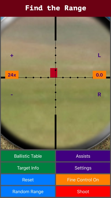 Longshot (metric) - Long Range Shooting Simulator and Mildot Scope Ranging Trainer