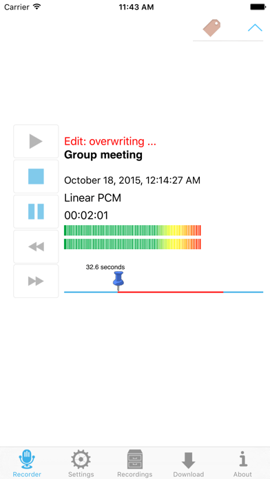 Ultimate Voice Recorder screenshot one