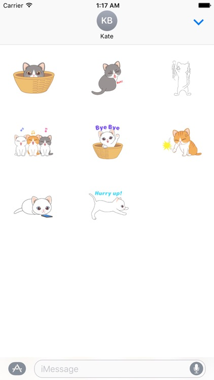 Animated Adorable Cats Sticker