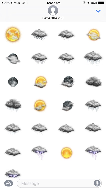 Weather Stickers for Message