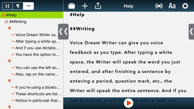 writing help text