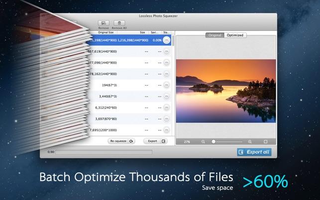 Photo Size Optimizer Screenshot