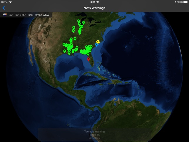 Real-Time Wx Screenshot