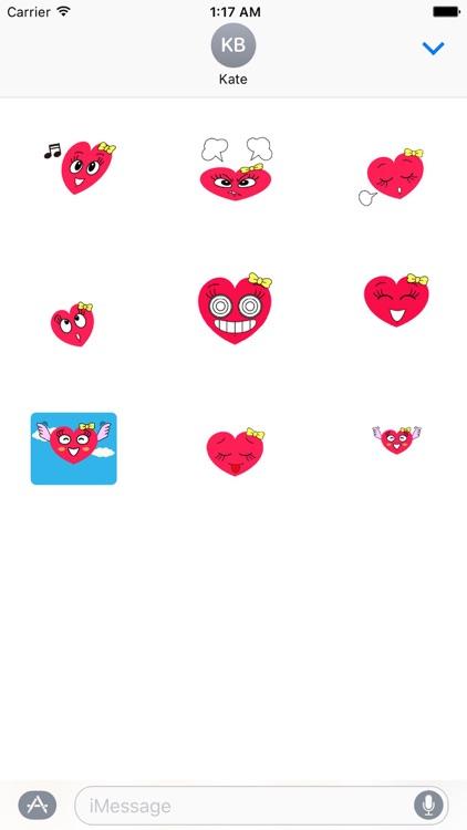 Moving Heart in Love Lovemoji