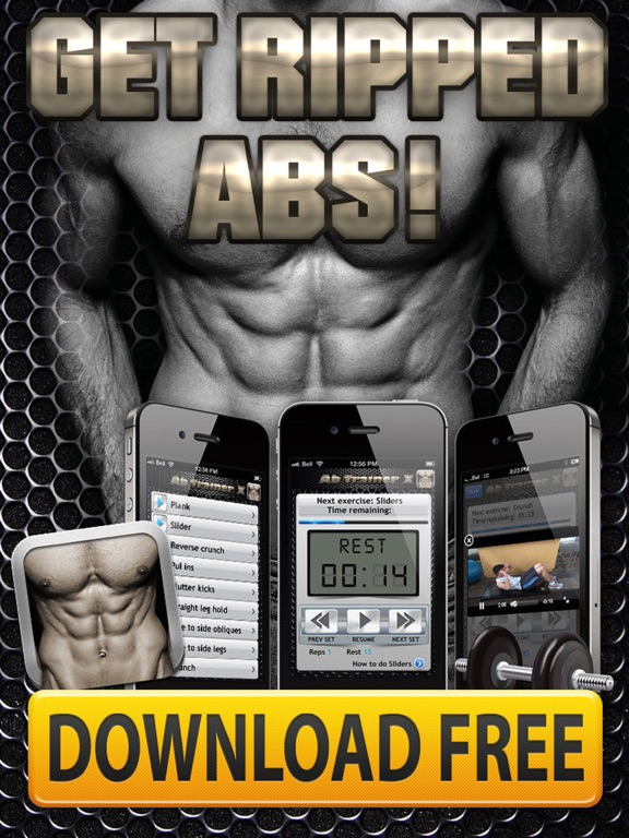 Ab Trainer X FREE+ Six-Pack Abs Exercises Workouts-ipad-4