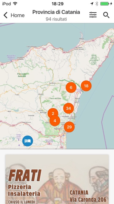 Screenshot of Sicilia – Dormire e Mangiare Touring2