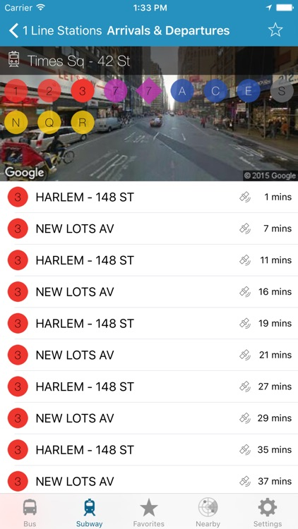 NY Subway & Bus - New York City (NYC) MTA Realtime Transit Tracker and Map screenshot-1