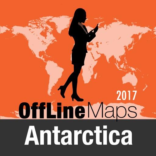 Antártida mapa offline y guía de viaje