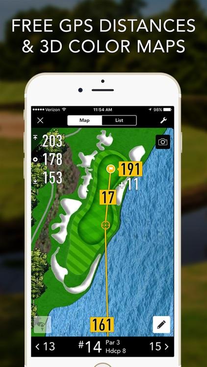 Golf GPS by GolfLogix Scorecard + Rangefinder screenshot-0