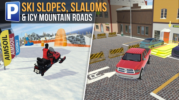 Ski Resort Parking Sim Ice Road Snow Plow Trucker screenshot-4