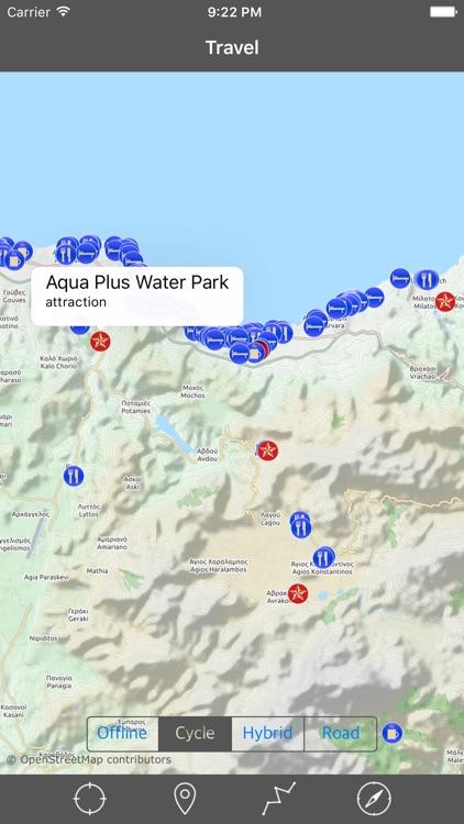 CRETE (GREECE) – GPS Travel Map Offline Navigator