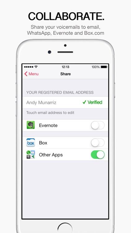 HulloMail, Free SmartVoicemail™ screenshot-4