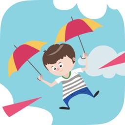 Umbrella Falling Hardest - Parachute in the sky