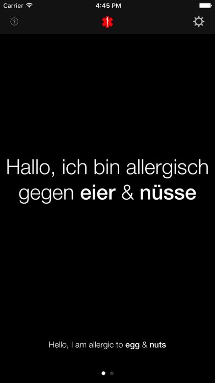 Allergic Traveler Food Allergy Translator app image