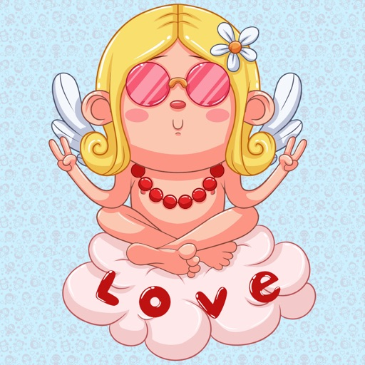 Animated Love Cupid Stickers