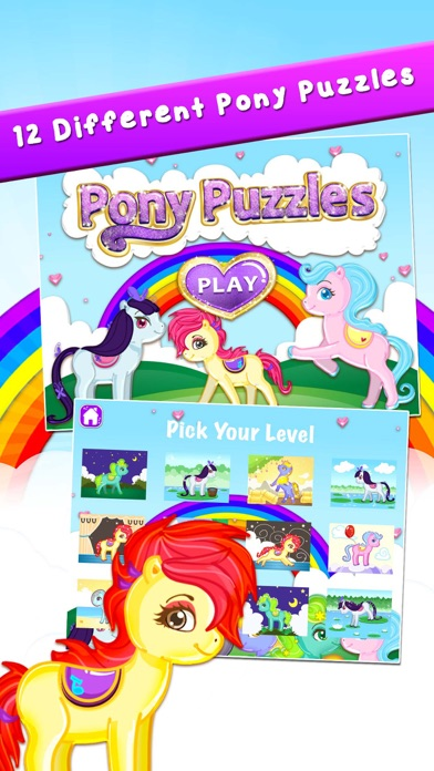 Pony Puzzles: Jigsaw Puzzles for Kids and Toddlers screenshot one