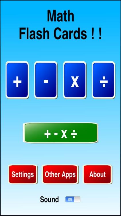 Math Flash Cards ! ! screenshot-3
