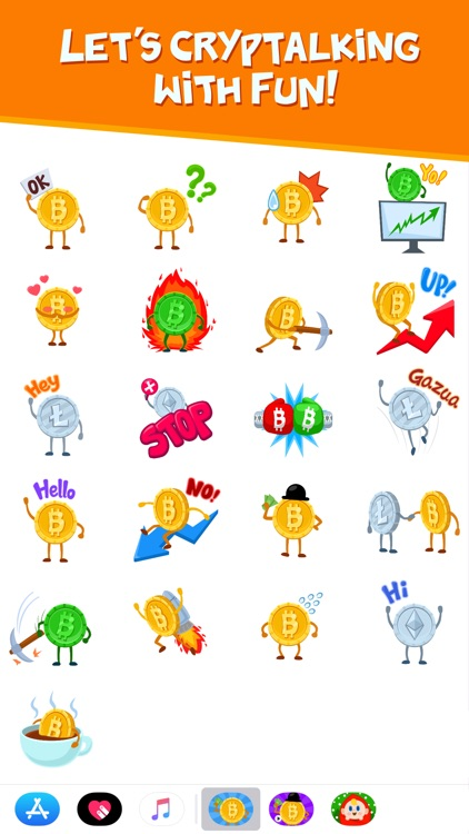 Cryptalk Lite Bitcoin Stickers
