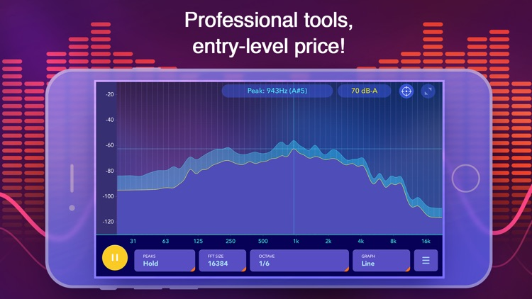 Audio spectrum analyzer and dB (decibel) meter screenshot-4