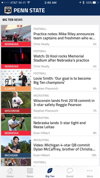 Land of Ten – Team-Specific Big Ten Football News screenshot-4