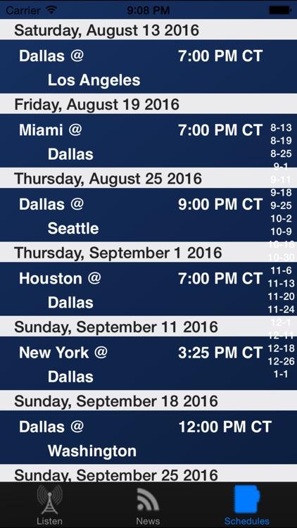 Dallas Football Live - Radio, Scores & Schedule screenshot-3