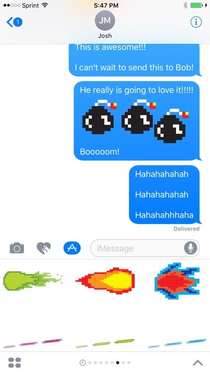 Pixel Blast Stickers