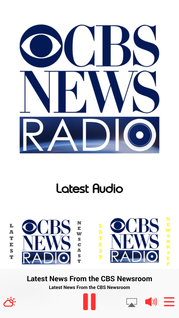CBS Radio News Screenshot