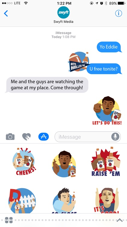 Football Stickers by Miller Lite screenshot-3