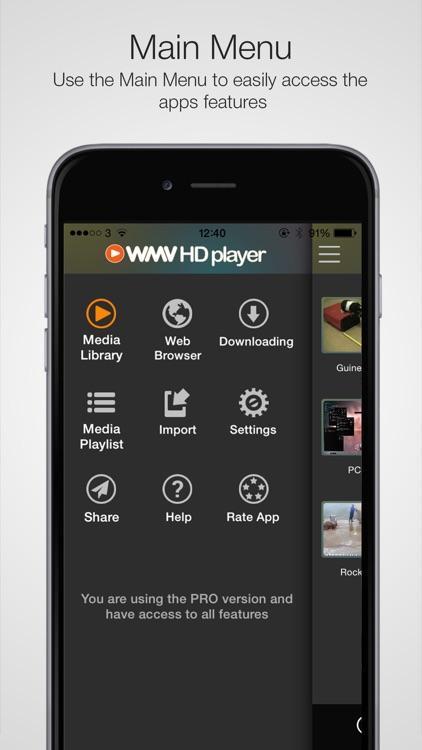 WMV HD Player - Video, Media Player & Importer Pro screenshot-3