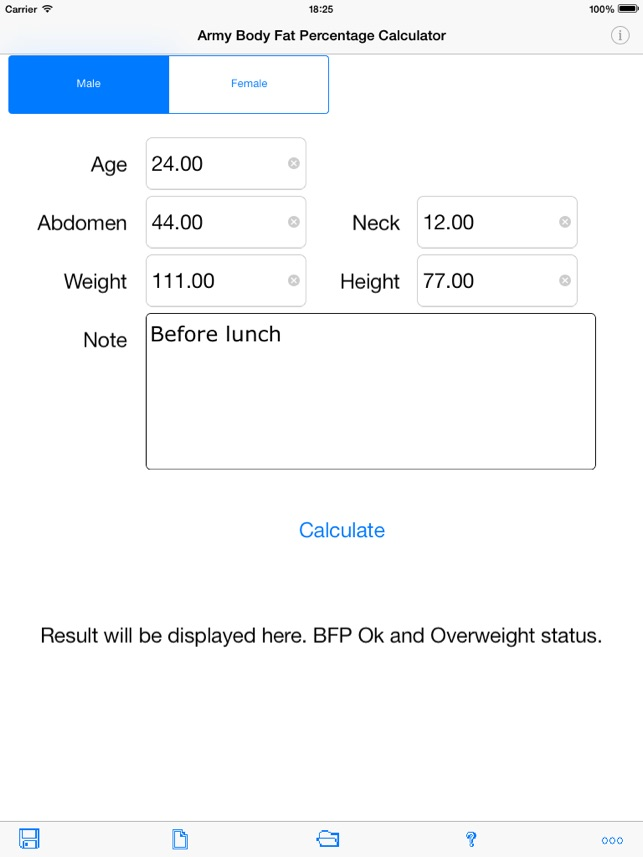 army body fat percentage calculator for ipad on the app store