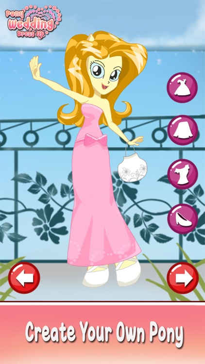 Bride Pony wedding girl princess dress up makeover