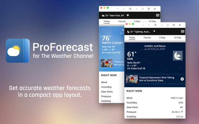 ProForecast for The Weather Channel