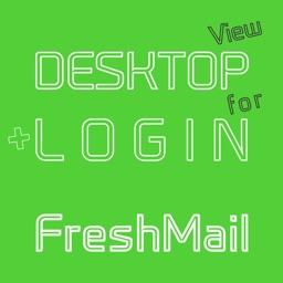 DESKTOP VIEW + LOGIN for FreshMail