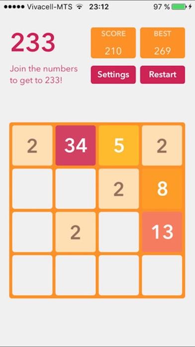 2048 Plus (Fibonacci, themes, sizes) screenshot four