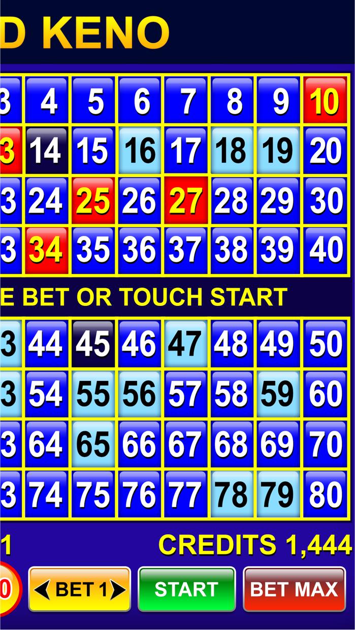 Keno - Multi Card keno games Screenshot