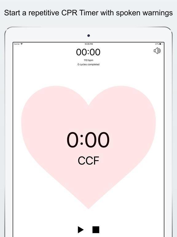 CPR Timer Screenshots