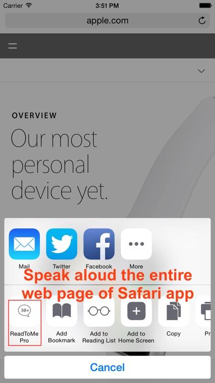 ReadToMe (Text-to-Speech) screenshot-4
