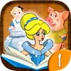 Classic fairy tales - interactive book for kids