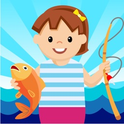 Girl Fishing - toddler games free for educational