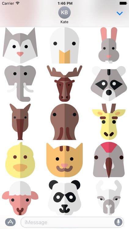 Animal Stickers and Emoji - Cute Pets screenshot-4