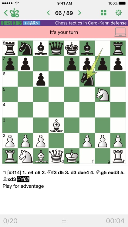 Chess Tactics. Caro-Kann Def.
