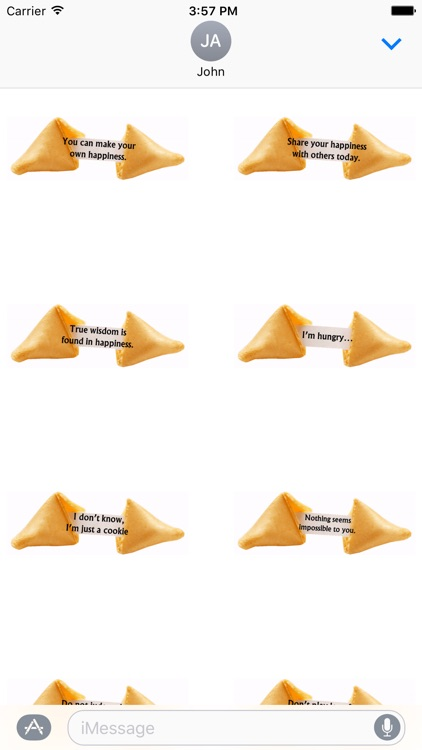 Animated Fortune Cookie Stickers