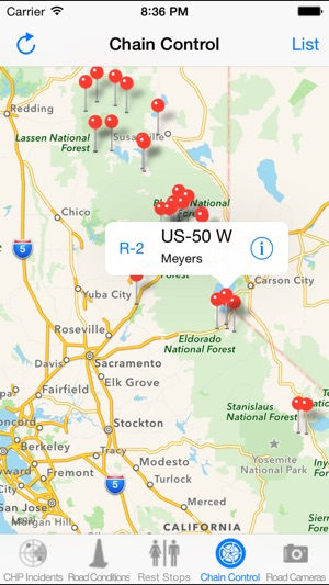 Highway 41 California Map.California Road Report On The App Store