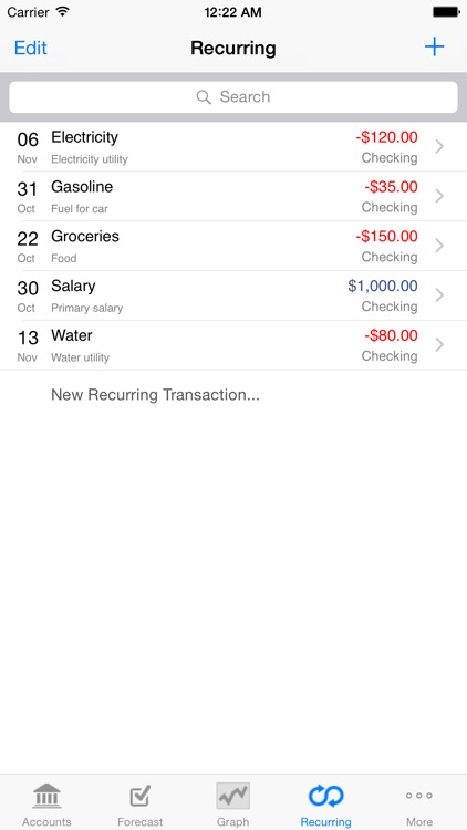 Cashflows screenshot-2