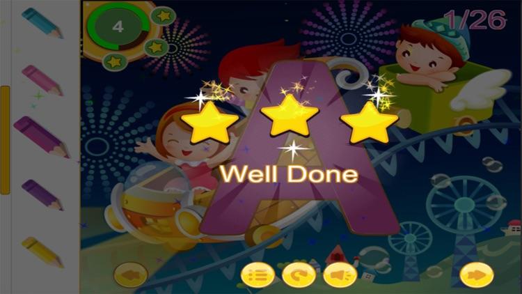 Alphabetty song Alphabet Tracing Coloring game screenshot-3