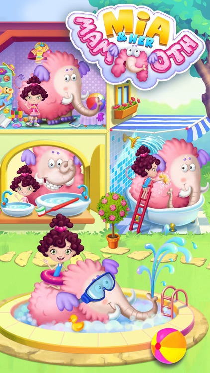 Mia and Her Mammoth – Secret Giant Pet Care screenshot-0