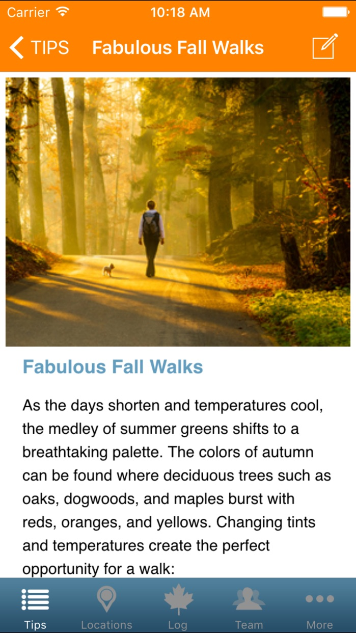 Walktober Screenshot