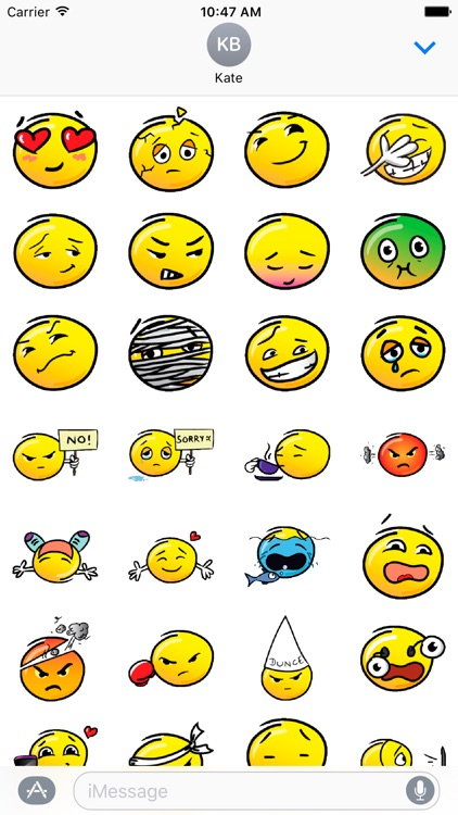 Retro Emoji Stickers