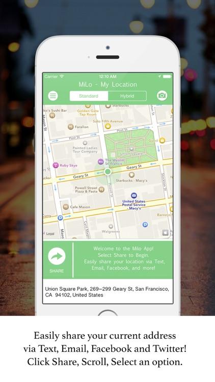 Milo App - My Location